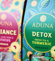 """International Review: Carter Wong creates """"bold and vivid"""" packaging for Aduna's range of teas"""