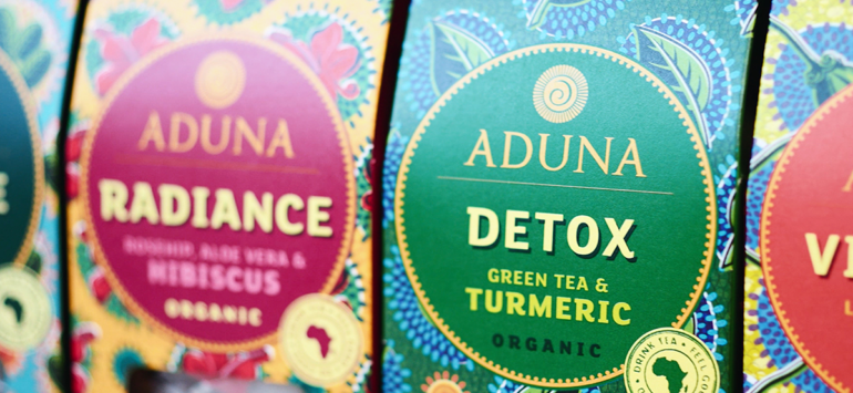 "International Review: Carter Wong creates ""bold and vivid"" packaging for Aduna's range of teas"