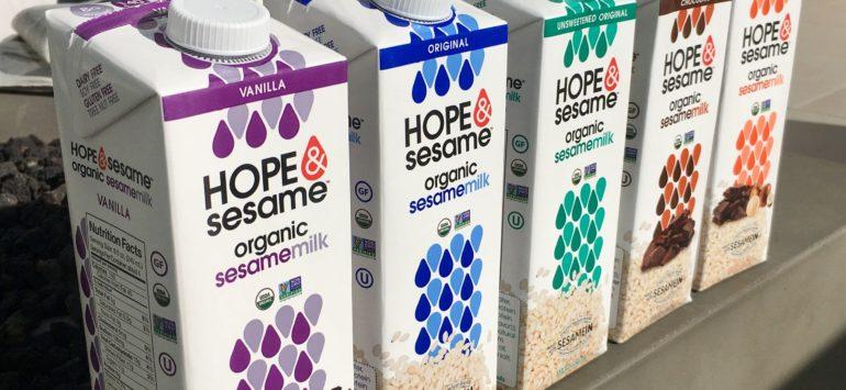 Hope & Sesame unveils sesamemilk